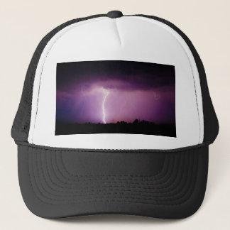 Purple Sky Lightning Storm Trucker Hat