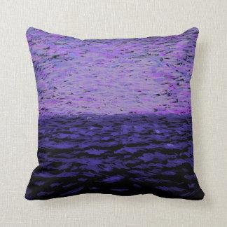 Purple Sky over Water Throw Pillow