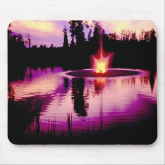 Purple Sky , Reflected Off Water Mouse Pad