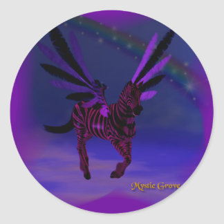 Purple Skys Classic Round Sticker