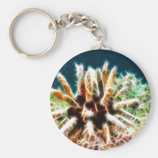 Purple Slate Pencil Sea Urchin Keychain