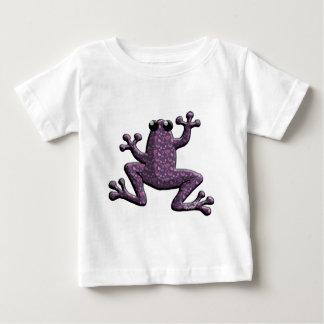 Purple Small Paisley Frog Baby T-Shirt