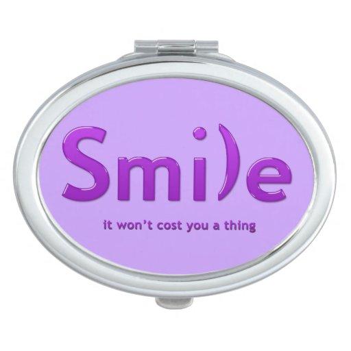 One Line Ascii Art Metal : Purple smile ascii text compact mirror zazzle