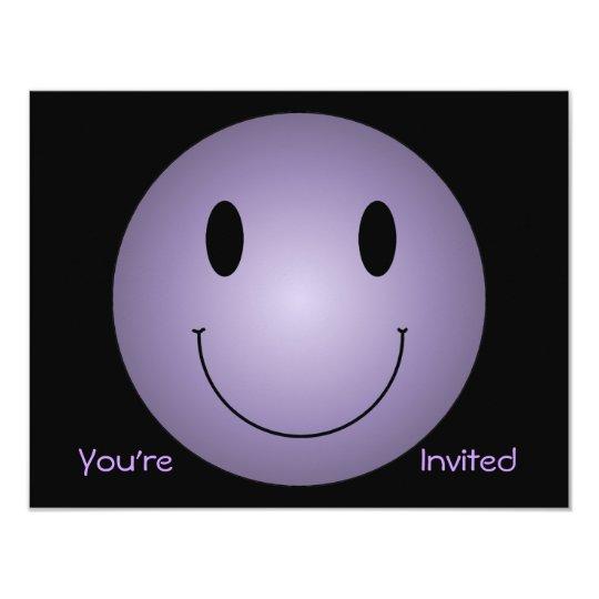 Purple Smiley Card