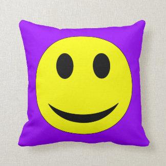 Purple Smiley Face Pillow