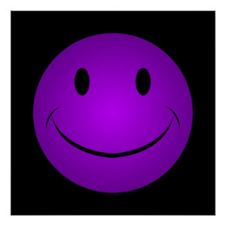 Purple Smiley Face Poster