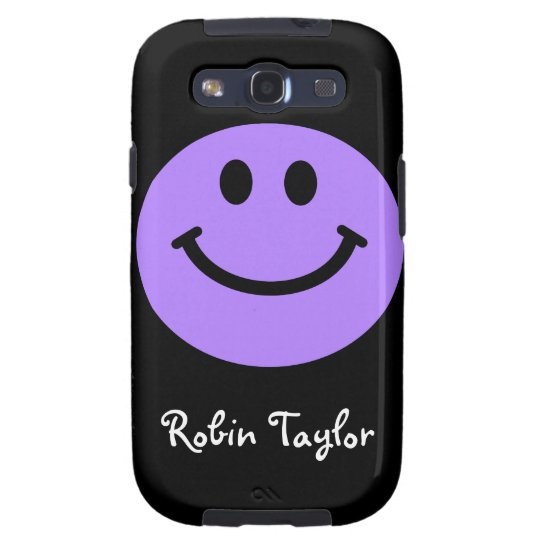 Purple Smiley face Samsung Galaxy SIII Cover