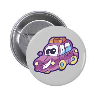 Purple Smiling Car Tshirts and Gifts Buttons