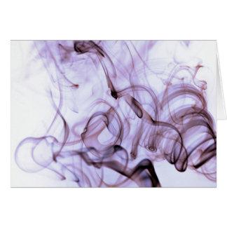 Purple Smoking Art Greeting Card