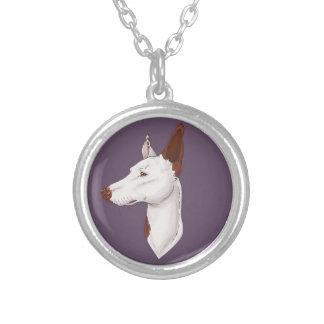 Purple Smooth Ibizan Hound Necklace