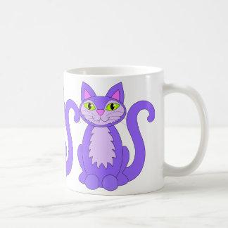Purple Snaggletooth Pussycats Mug
