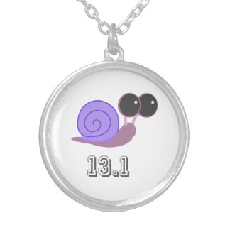 Purple Snail 13.1 Silver Plated Necklace