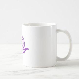 Purple Snail Passing Through Coffee Mug