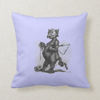 Purple Snake Demon Cuddly Throw Pillow