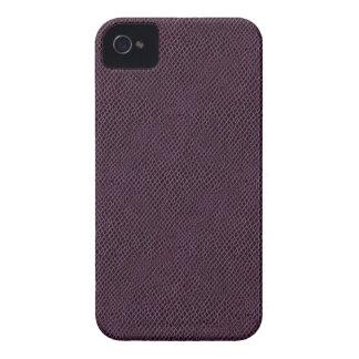 Purple Snake Skin Leather iPhone 4 Case-Mate Case