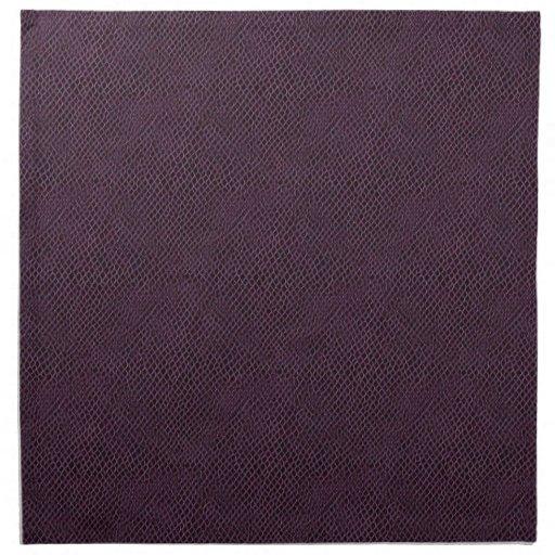 Purple Snake Skin Leather Cloth Napkin
