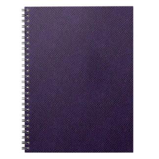 Purple Snake Skin Leather Note Books