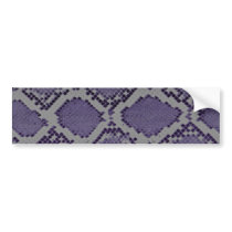 Purple snake skin pattern bumper sticker