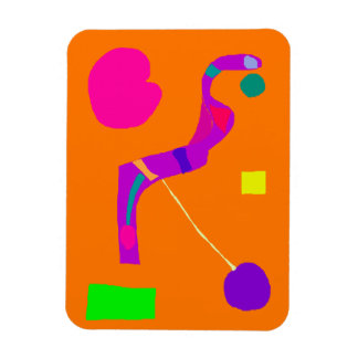 Purple Snake Wise Wit Green Egg Play Swift Rectangle Magnet