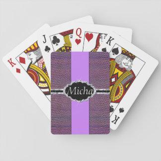 Purple Snakeskin Diamond Monogram Poker Deck