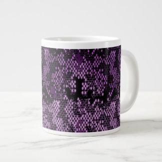 Purple Snakeskin Pattern Ceramic Wares Giant Coffee Mug