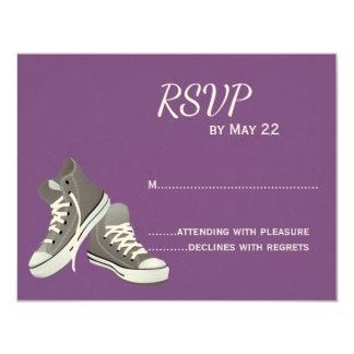 Purple Sneakers RSVP Card