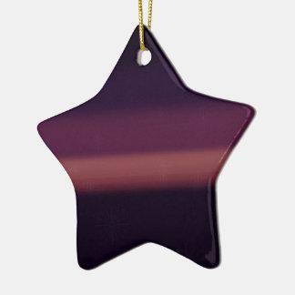 Purple Snow Ceramic Ornament