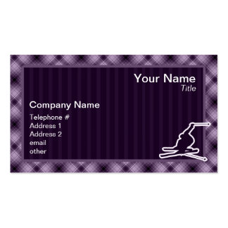 Purple Snow Skiing Double-Sided Standard Business Cards (Pack Of 100)
