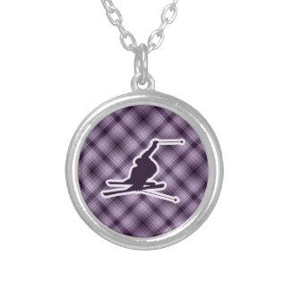 Purple Snow Skiing Jewelry