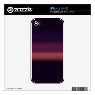 Purple Snow iPhone 4S Skin
