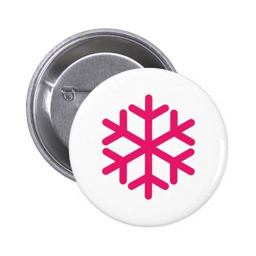purple snowflake 2 inch round button