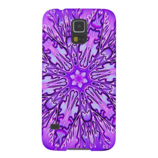 Purple Snowflake 3 Galaxy S5 Cover