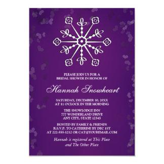 PURPLE SNOWFLAKE BRIDAL SHOWER CARD