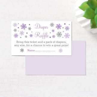 Purple Snowflake Diaper Raffle Tickets