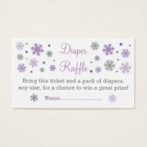 Purple Snowflake Diaper Raffle Tickets