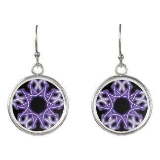 purple snowflake earrings