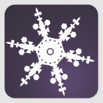 purple snowflake envelope seal