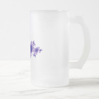 Purple Snowflake Frosted Glass Beer Mug