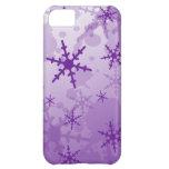 Purple Snowflake iPhone 5C Cases