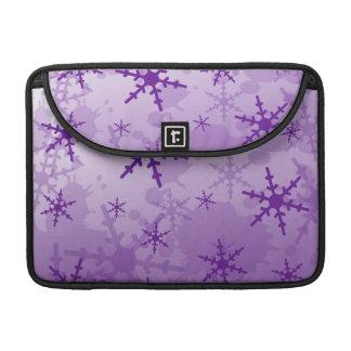 Purple Snowflake MacBook Pro Sleeves
