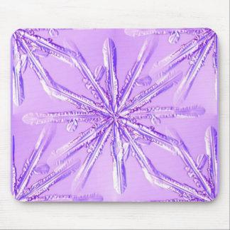 purple_snowflake mouse pad