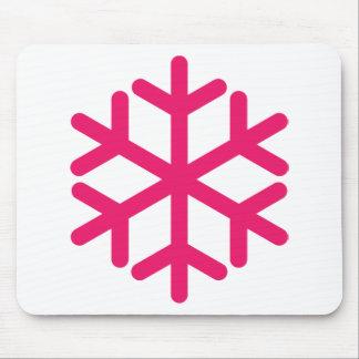 purple snowflake mouse pad