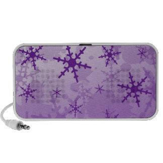 Purple Snowflake Portable Speaker