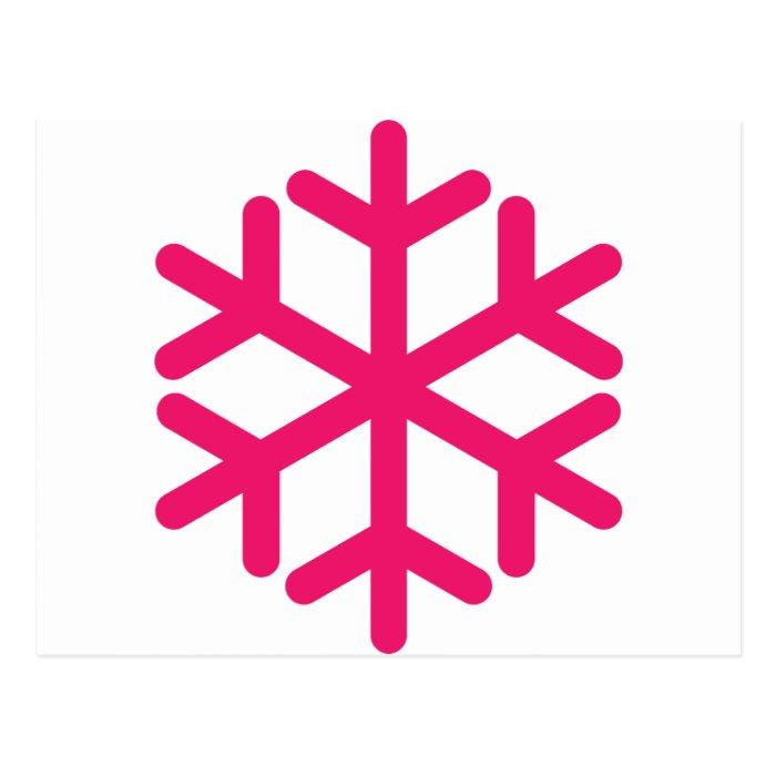 purple snowflake postcard