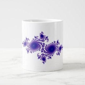 Purple Snowflake Extra Large Mugs
