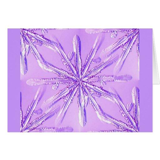 purple_snowflake tarjeta de felicitación