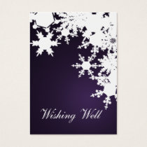 purple snowflake wishing well cards
