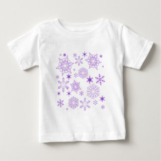 purple snowflakes baby T-Shirt