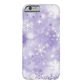 Purple Snowflakes Barely There iPhone 6 Case