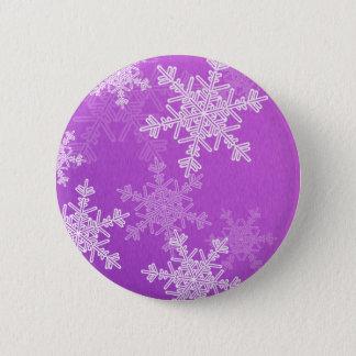 Purple Snowflakes Christmas  Button